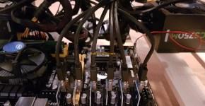 Gigabyte GTX 1070 8GB Mining Rig 4 PCIE Slots