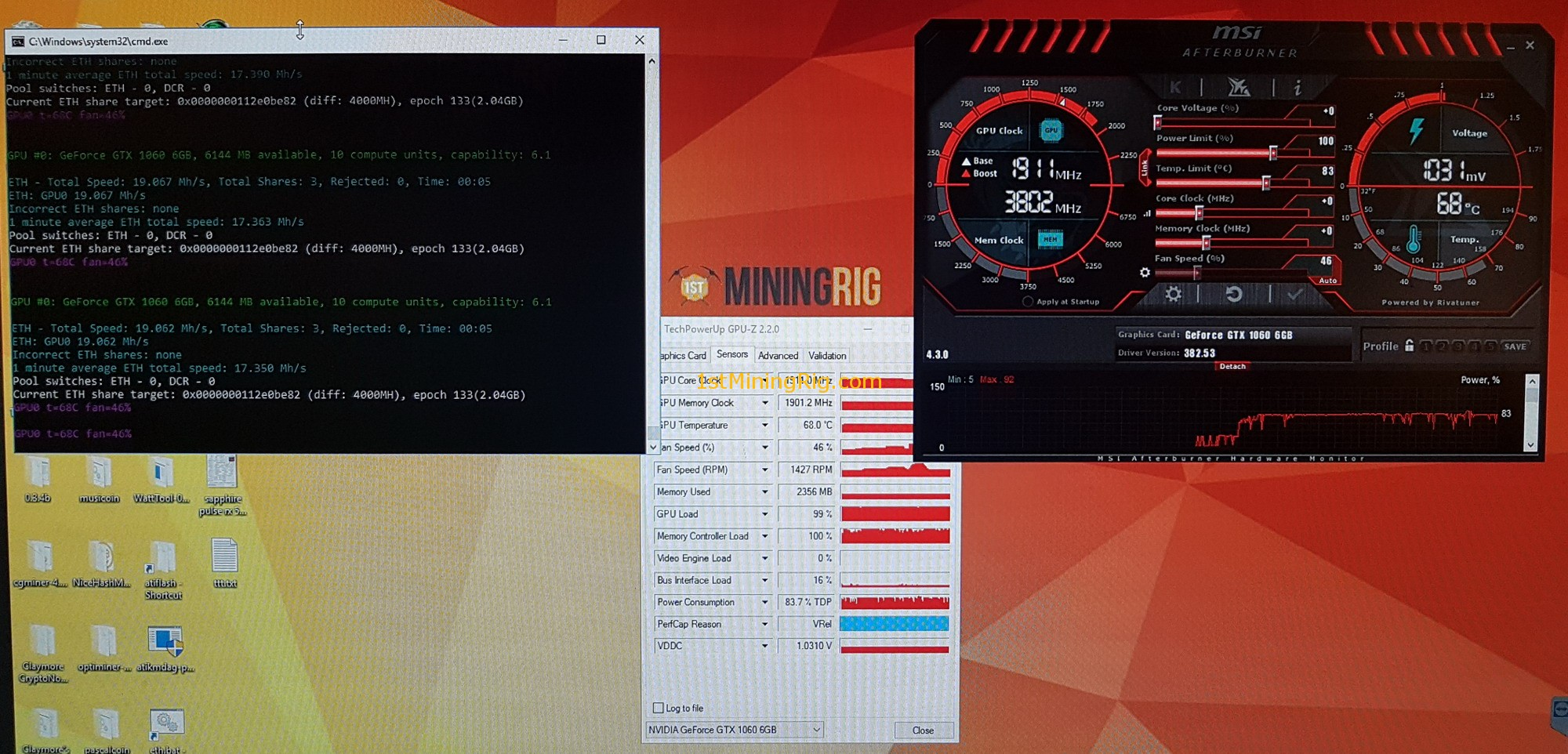 Nvidia GeForce GTX 1060 Mining Performance Review - 1st Mining Rig