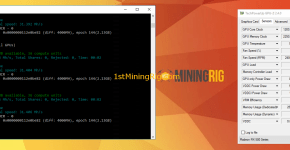 Sapphire Nitro+ RX 580 8GB Special Edition Ethereum Ethash Mining Hashrate and Power Draw Claymore 1