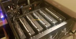 1stMiningRig Rackmount Server Case FANS + GPUs 2
