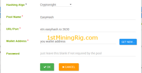 electroneum cpu mining with sumo easy miner adding pool
