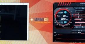Asus P104-100 4GB ZCash Equihash Mining Hashrate