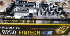 Gigabyte B250-FinTech 12 GPU Mininig Motherboard Ports