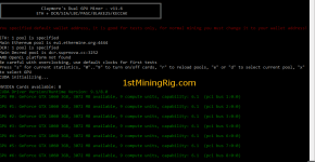 MSI GTX 1060 3GB OC Claymore's V11.6 Ethereum Mining