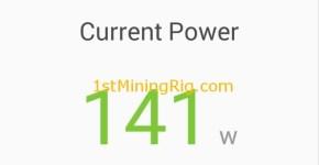 MSI GTX 1060 6GB Gaming X Ethereum Mining Default Clocks Power Draw