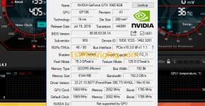 MSI GTX 1060 6GB Gaming X GPUz
