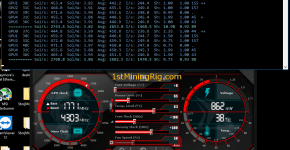 dstm's ZCash Cuda miner Gigabyte GTX 1070 8GB G1 Gaming Mining Hashrate