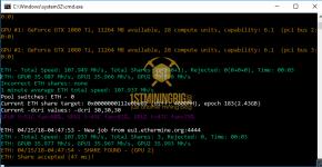 MSI GTX 1080 Ti Ethereum Hashrate 2