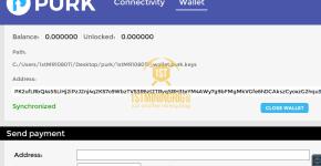Purk GUI Wallet