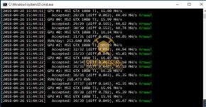 gtx 1080 ti 3x gpu mining rig ravenminer v2.6 miner hashrate benchmark 1