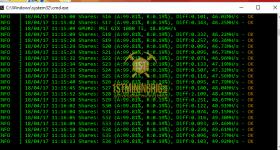 gtx 1080 ti 3x gpu mining rig z-enemy-1.05a miner hashrate benchmark 1