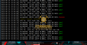 ASUS P104-100 Mining Edition Luxcoin PHI2 Hashrate