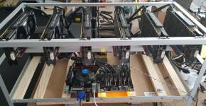 EVGA GTX 1070 Ti SC Gaming Black Edition ETH, XMR, ZEC, NXS, LUX, RVN Mining Rig 4