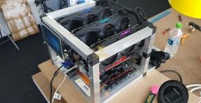 Gigabyte GTX 1080 Ti 3x GPU Mining Rig 1