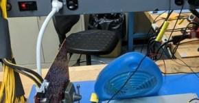 Obelisk SC1 ASIC Miner Boards test