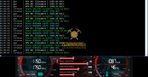 Sapphire RX 470 4GB Zjazz miner PHI2 Luxcoin Mining Hashrate