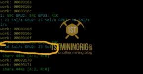 GTX 1060 3GB Bitcoin Gold Equihash-BGT Mining Hashrate