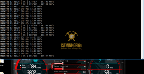 MSI GTX 1060 T-Rex 0.5.1 PHI1612 Algorithm Mining Hashrate