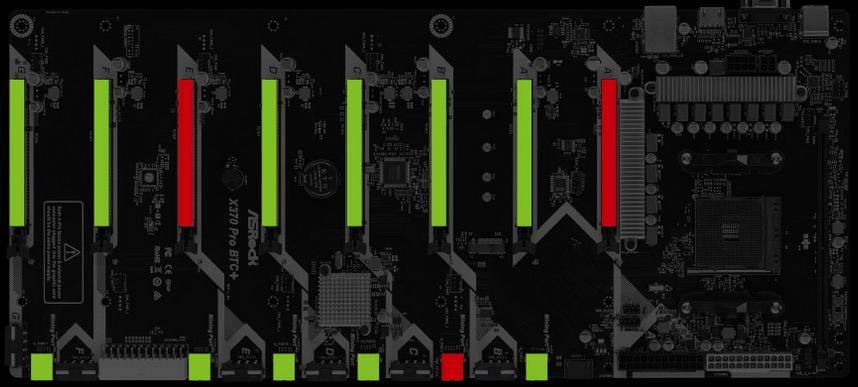 AsRock H110 Pro BTC + интеллектуальное определение состояния PCIe
