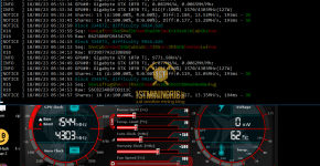 Gigabyte GTX 1070 Ti z-Enemy x16r Ravencoin Mining Hashrate