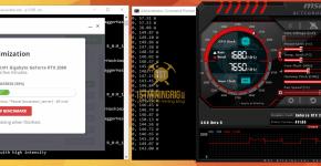 Gigabyte RTX 2080 NiceHash Mining Hashrate Benchmarks 2