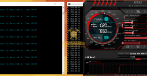 Gigabyte RTX 2080 Ti Ethereum Mining Hashrate and Power Draw