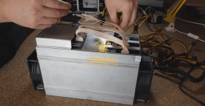 BlackMiner F1+ PSU installation Hashboard 6pin connection 1
