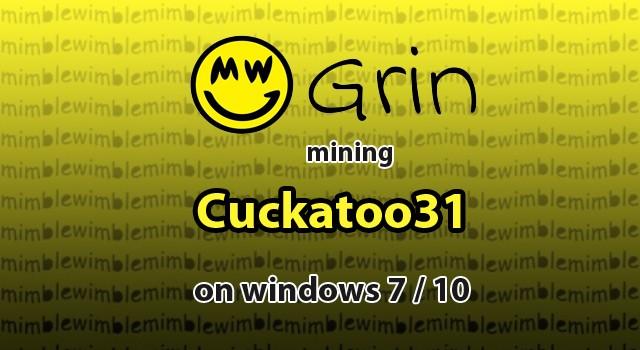 grin mining windows