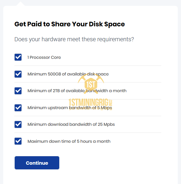 storj storage node requirements