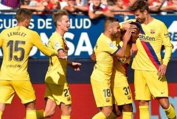 Barcelona players return to training