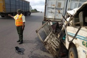 Driver dies as two trucks involved in accident on Lagos-Abeokuta expressway