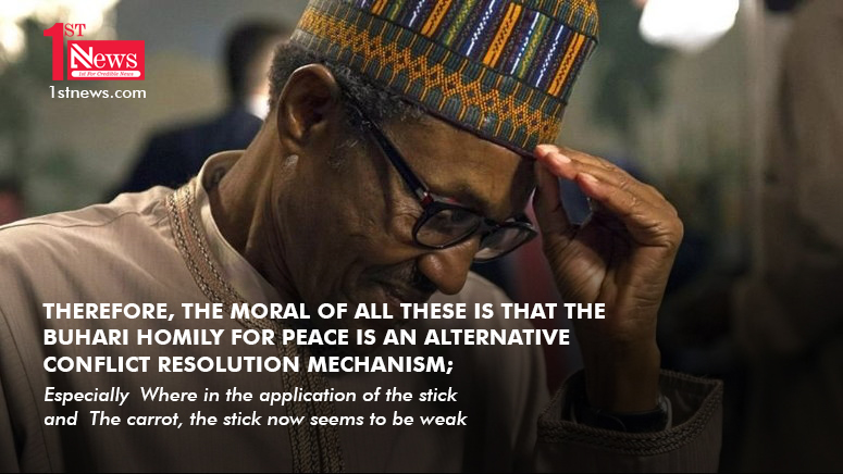 Buhari and his homily for peace - Yakubu Mohammed
