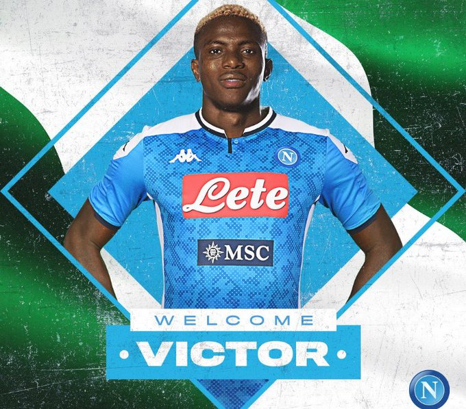 Osimhen is Africa's most expensive footballer as Napoli breaks transfer record for Super Eagles' star