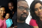 Stella Damasus shares family photo with step son