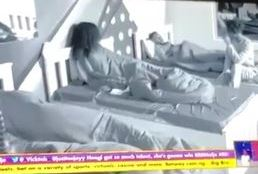 BBNaija housemates caught cuddling (Video)
