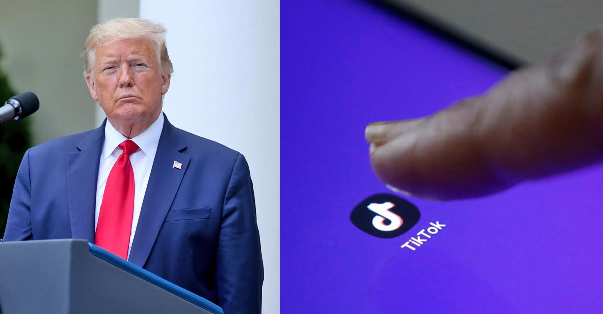Trump told reporters he will use executive power to ban TikTok