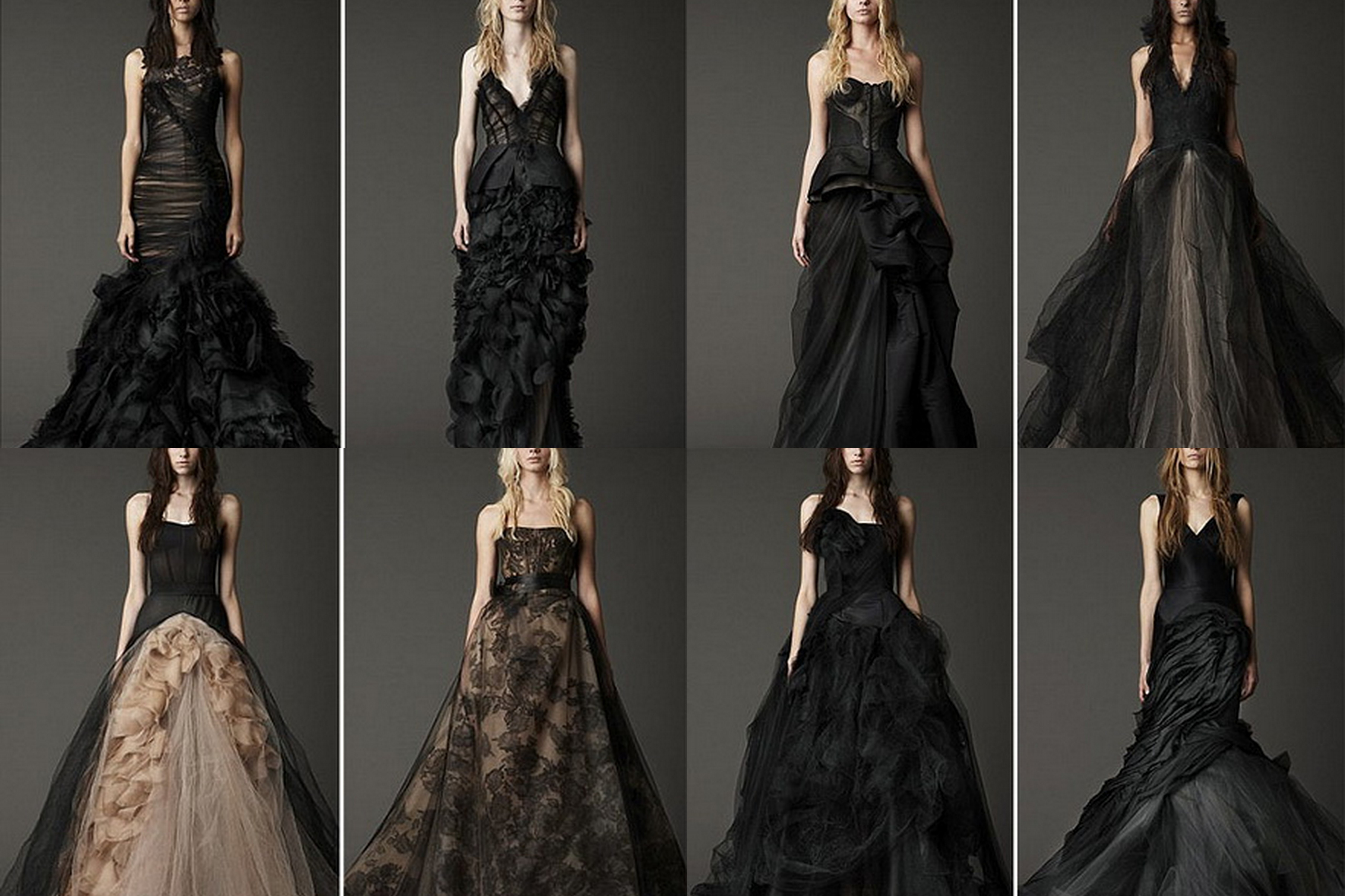 The Space Of Wedding: Sexy And Complicated Black Wedding Gowns