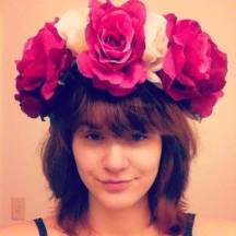 """A flower crown I made by hand, inspired by Lana del Rey's in her """"Born to Die"""" Music Video"""