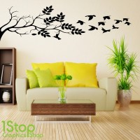 TREE BRANCH WALL STICKER QUOTE - BEDROOM LOVE HOME WALL ...