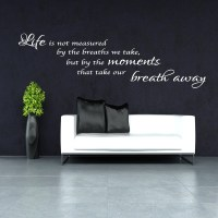 LIFE IS NOT MEASURED WALL STICKER BEDROOM LOUNGE BATHROOM ...