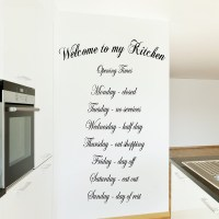 WELCOME TO MY KITCHEN WALL ART QUOTE STICKER