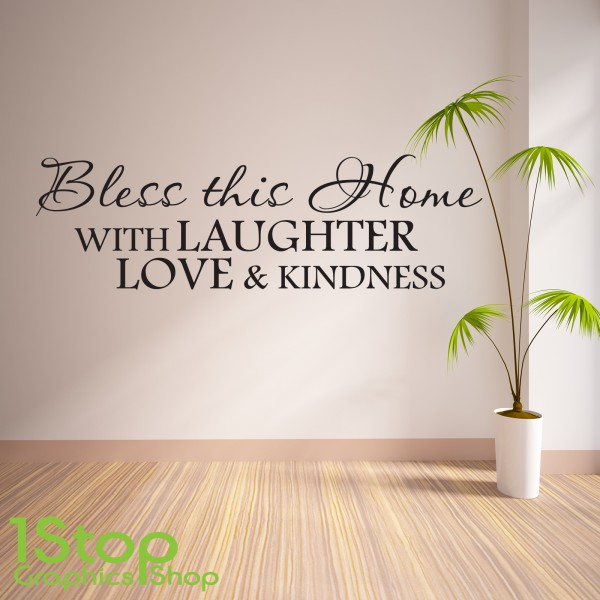 bless this house wall sticker quote bedroom lounge love wall art