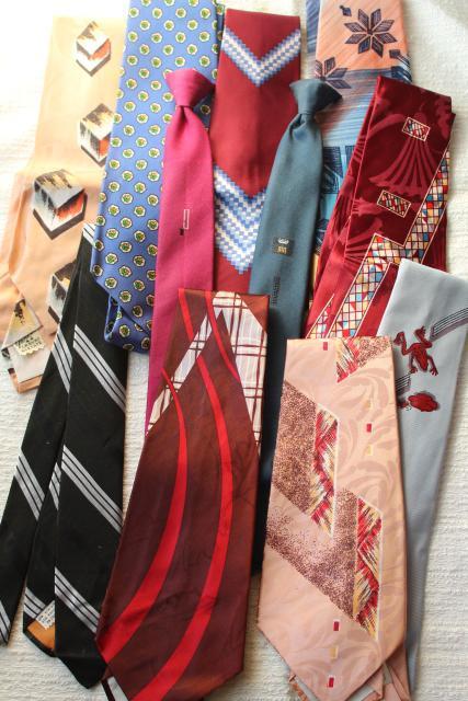 1940s 1950s vintage neckties lot mens silk ties clip on
