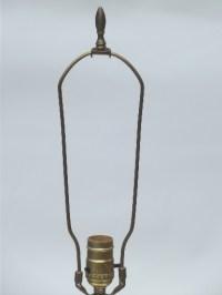 1950s vintage crackle glass lamp, crystal & spelter ...