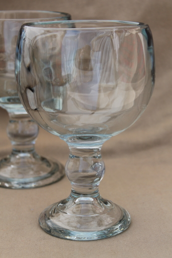 kitchen miniature cheap cabinets 70s vintage beer glasses, huge heavy glass fishbowl ...