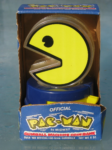 80s Vintage Pac Man Gumball Dispenser Original Superior