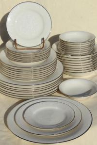 Noritake Porcelain Dinnerware & Noritake White On White ...