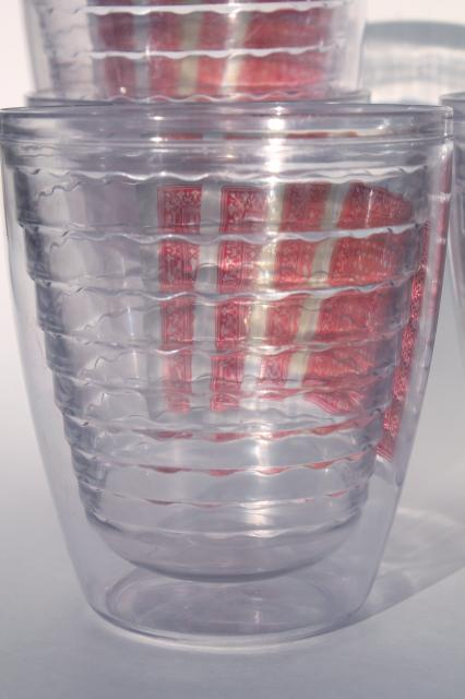 Tervis Type Insulated Clear Plastic Tumblers Poker