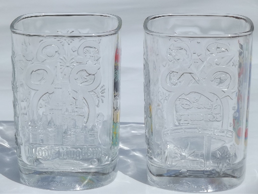 Disney Mickey Mouse collectible McDonalds glasses from