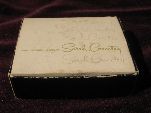 Empty Gift Boxes From Sarah Coventry Jewelry 70s Vintage